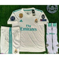 NEW Jersey 1 set Real Madrid Home FULLPATCH UCL 2017/2018 grade ori offici Murah