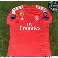 NEW Jersey Real Madrid GK Kiper Orange Full patch UCL 2017/2018 grade ori Murah