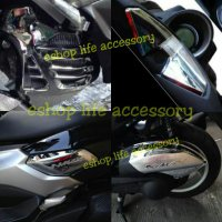 Aksesoris Full Set Chrome Nmax Modifikasi Chrom Nmax Cover Radiator/Side Body/Air Filter