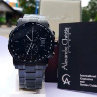 Jam Tangan Alexandre Christie Ac 6470 Full Black Original