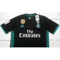 NEW Jersey Real Madrid Away 2017-2018 hitam + Patch FIFA WCC GO grade ori Murah