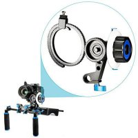 [poledit] Neewer Follow Focus with Single 15mm Rod Clamp,Adjustbale Gear Ring Belt for DSL/13670209