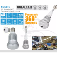 Wi-Fi Camera1.3MP 960P 360 Degree Panoramic Light Bulb Shaped - HD