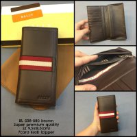 Dompet Bally 038-080 Brown Super Dompet Murah Dompet Import Kulit