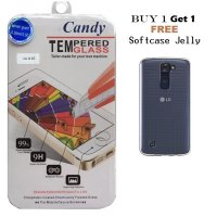 LG K10 Tempered Glass Candy - Clear FREE Softcase