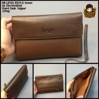 Handbag Pria Levis 8337-2 Brown Super Tas Fashion Clutch Cowok Import