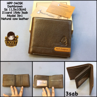 Dompet Pria Hushpuppies 040Sk Brown Super Dompet Cowok Dompet Kulit