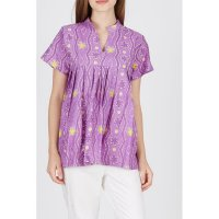 [WINGGO] Blouse Batik Blus Pastel Jumput Purple