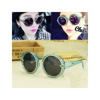 HO2428E - Kacamata Bulat Fashion Arrow ( Biru ) #C54