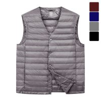 [moniz] V-neck Light weight Padding Vest PVT054