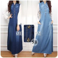 SB Collection Dress Maxi Putrie Gamis Longdress Terusan Casual Jeans Wanita