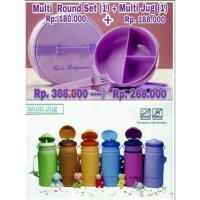 Multi Round Set Plus Multi Jug Twin Tulipware Promo PAKET HEMAT