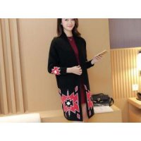 Knitted Long Coat ( Black, Gray, Red ) - 773712