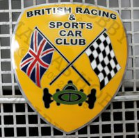 Emblem Grill British Racing & Sports Car Club (Tempelan Grill Mobil)