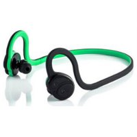 Silica Gel Sport Earhook Bluetooth Earphone with aptX Lossless Audio Quality - HV-600 - BlackGreen