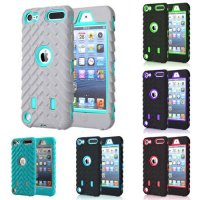 [globalbuy] Heavy Duty Phone Case For apple ipod Touch 5 6 Tire Style Dual Layer Silicone /3727253