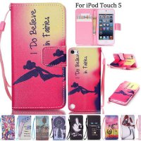[globalbuy] Flip Leather Silicone Magnetic Stand Wallet Case For Apple iPod Touch 5 6 Phon/3727247