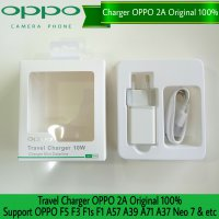 Travel Charger Oppo Original 2A Fast Charging - Charger Oppo F3 F3 Plus F3plus F1 Plus F1s A57 A39