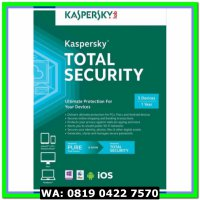 (Sale) Kaspersky Total Security / Pure 2017 1 Pc 1 Tahun