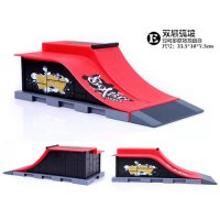 [globalbuy] Model E Finger Skateboard Park Ramp Parts for Tech Deck Fingerboard and Finger/2681939