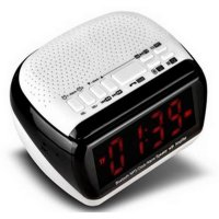 (High Quality) Combo Portable Bluetooth Speaker Radio Clock with TF Card Slot