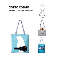 TC17 Civeto Cosmo Printed Canvas Tote Bag / Tas Selempang