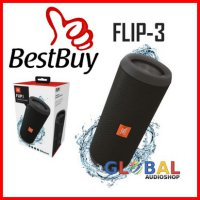 (Dijamin) JBL Flip 3 Speakerphone, Anti-percikan air, JBL Bass Radiator - Hitam