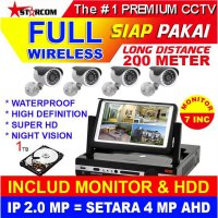 CCTV All In One 2.0 MP MONITOR + HDD SIAP PAKAI