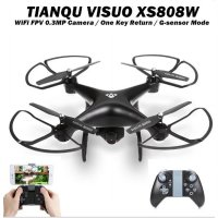 RC Drone Visuo Tianqu XS808W WiFi FPV 0.3MP Camera 2.4G G-Sensor Mode