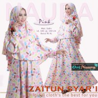 Ori Naura / Gamis Saja / Zaitun Dress / Pink / Mat dress satin maxmara