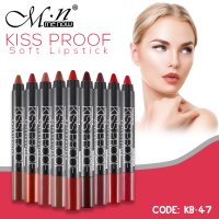 (4pcs + Free Rautan) MENOW KISS PROOF LONG LASTING SOFT MATTE CREAMY LIPSTICK (KB-47)