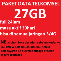 PAKET DATA TELKOMSEL FLASH 27GB || KUOTA INTERNET TELKOMSEL || KUOTA BESAR|| PULSA TELKOMSEL