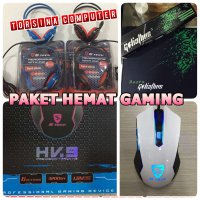 (High Quality) Mouse Gaming + Headset Gaming Stech + mousepad RAZER large size