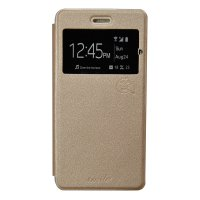Smile Flip Cover Case Andromax A B - Gold