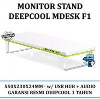 Promo Cooling Fan Deepcool MDESK F1-Monitor Stand w/ USB HUB + Audio - Resmi
