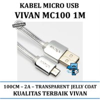 Promo Kabel Data Vivan MC100 1M Micro USB - Original Resmi