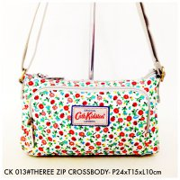 Tas Impor Wanita Cath Kidston THREE ZIP Cross Body 013 - 14
