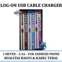 Promo Kabel Charger Android Samsung, Oppo, Xiaomi - 1M, 2.4A Banyak Warna