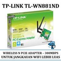 Promo TP-LINK Wireless-N PCI Express Adapter [TL-WN881ND] - Original