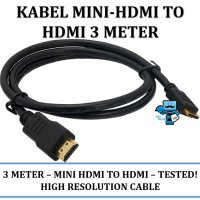 Promo Kabel Mini Hdmi to HDMI 3 meter mini hdmi-hdmi - High Quality!