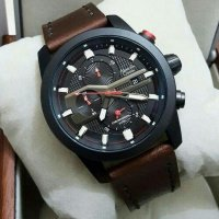 Jam Tangan Alexandre Christie Ac-6270 Black Brown Original