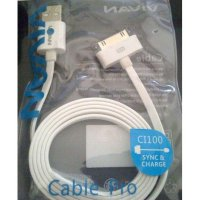 Promo Kabel Data VIVAN for Iphone 4 - 100cm Original Resmi
