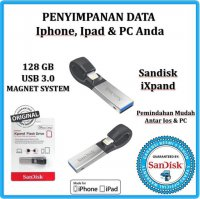 Promo USB OTG Flashdisk Apple Sandisk iXpand 128GB - Win, iPad, iPhone-Resmi
