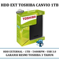 Promo HDD External TOSHIBA Canvio Basic 3.0 Portable HDD / Harddisk 1TB