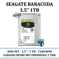 Promo Harddisk Internal SATA Seagate 3.5 Inch 1TB Barracuda - HDD Internal