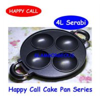 [Limited Offer] 4 Lubang Panci Teflon Kue Serabi HAPPY CALL