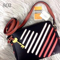 FOSSIL Piper Toaster Heart Double Zip Bag - 802