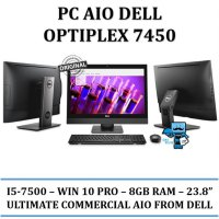Promo DELL OPTIPLEX PC All In One 7450 AIO - win 10 pro, i5 7500, 8GB, 23.8