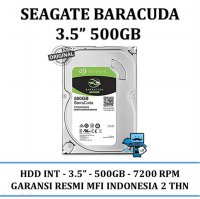 Promo HDD Internal Seagate SATA 3.5 Inch 500 GB Barracuda - Internal Hardisk