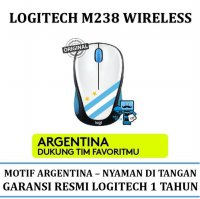 Promo Mouse Wireless Logitech M238 Fan Collection World Cup - Argentina